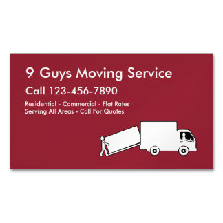 Moving Service Business Magnets