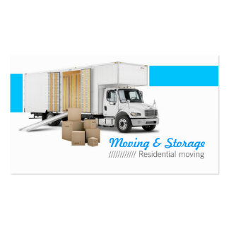 Moving & Storage Plantilla De Tarjeta De Visita