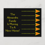 [ Thumbnail: Moving to a New Home (Yellow and Orange Arrows) Postcard ]