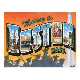 Moving to Boston MA Vintage Change of Address Postcard
