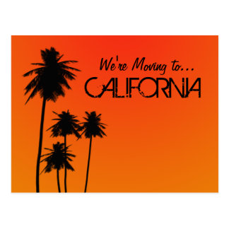 Moving to California postcard