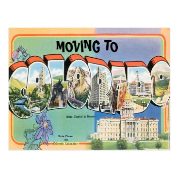 Beach Themed Moving to Colorado Vintage Change of Address Postcard