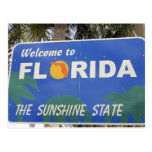Moving to Florida welcome sign change of address Postcard
