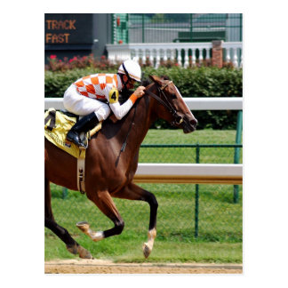 Moving to goal success Horseracing Postcard