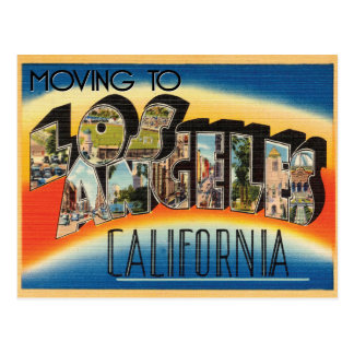 Moving to Los Angeles Vintage Change of Address Postcard