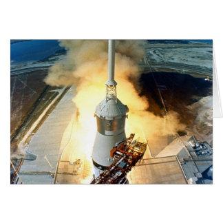 moving to success Apollo eleven  11 Launch Card