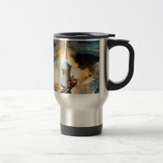 moving to success Apollo eleven  11 Launch Travel Mug