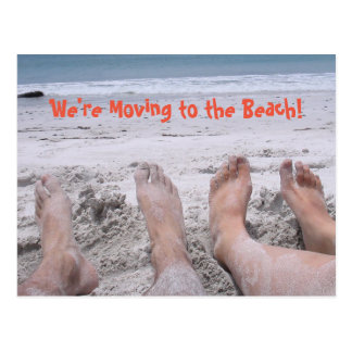 Moving to the Beach funny change of address Postcard