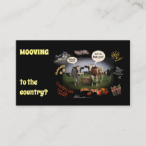 Moving to the Country (customizable) Business Card