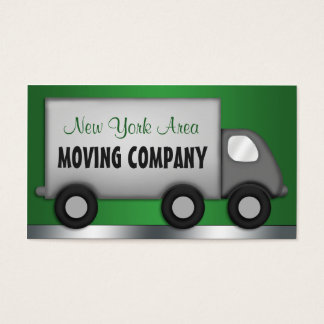 Moving Truck Green Movers Business Cards