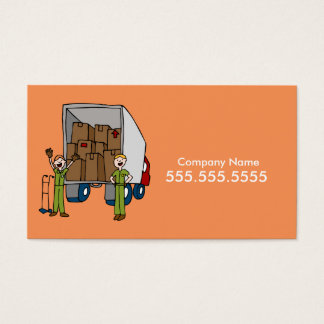 Moving Truck Men Business Card