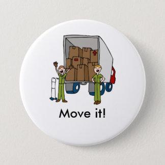 Moving Truck Men Button
