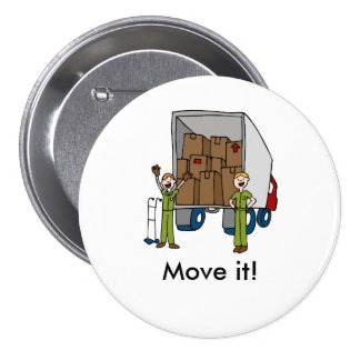 Moving Truck Men Button