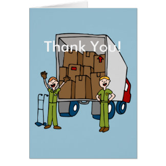 Moving Truck Men Greeting Card