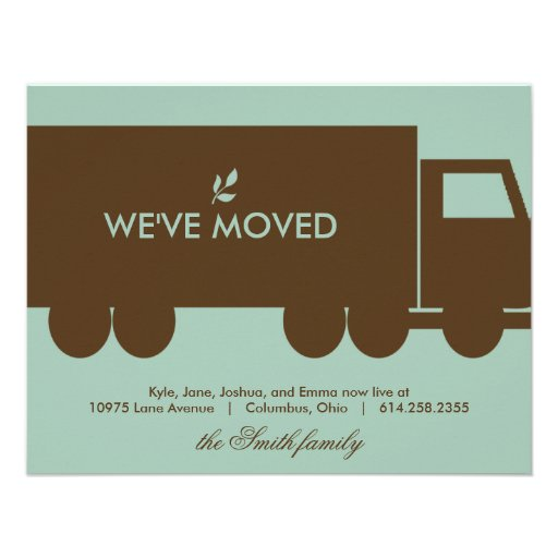 Moving Truck Moving Announcement Card invitation