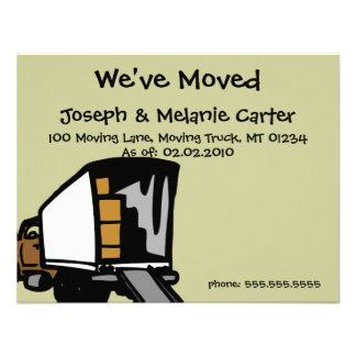 Moving Truck - We ve Moved Announcement Cards