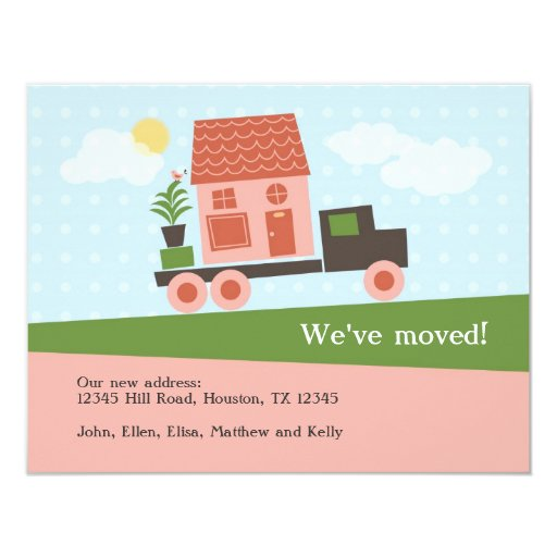 Moving Truck We've Moved Card