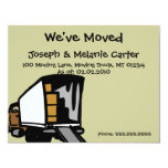 """Moving Truck - We've Moved Announcement Cards 4.25"""" X 5.5"""" Invitation Card"""