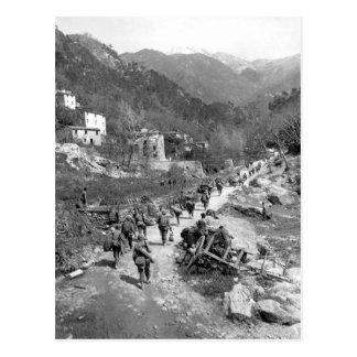 Moving up through Prato, Italy_War Image Postcard
