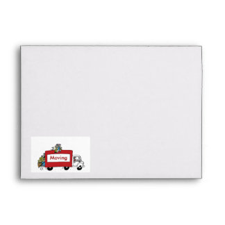 Moving Van  family with boys Envelope