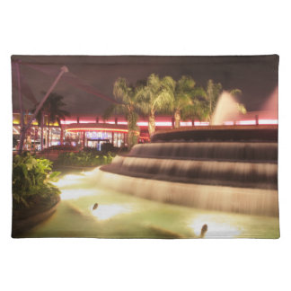 moving water abstract lights picture fountain cloth placemat