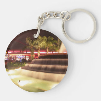 moving water abstract lights picture fountain acrylic keychains