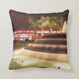 moving water abstract lights picture fountain throw pillow