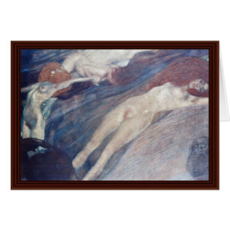 Moving Water By Klimt Gustav Card