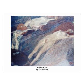 Moving Water By Klimt Gustav Postcard