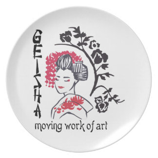 MOVING WORK OF ART PARTY PLATES