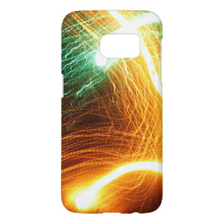 Moving Yellow and Green Swirling Lights Samsung Galaxy S7 Case