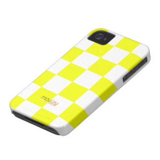 Movizy cover iPhone 4 Squares Yellow