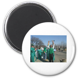 Mow-Bama Obama marches with the Lawn Rangers Fridge Magnet
