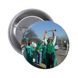 Mow-Bama (Obama) marches with the Lawn Rangers Pinback Button