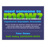Mow Grass Lawn Care Landscaper SMALL DK Flyer