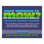 Mow Lawn Grass Care Landscaper SMALL DK Personalized Flyer