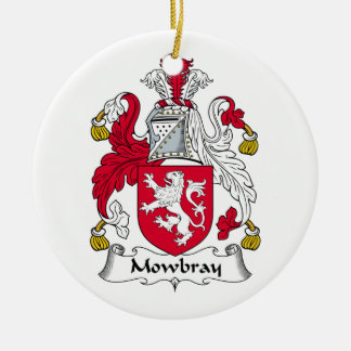 Mowbray Family Crest Double-Sided Ceramic Round Christmas Ornament