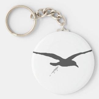 Möwenschiss Basic Round Button Keychain