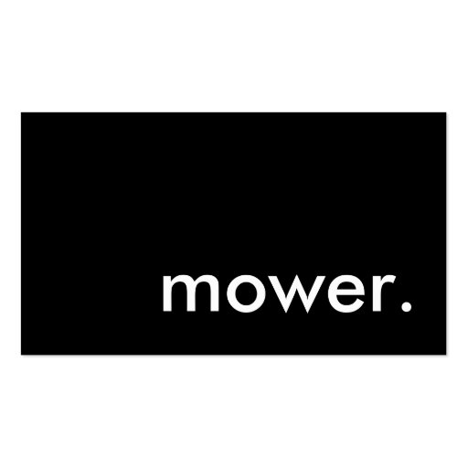 mower. business card templates