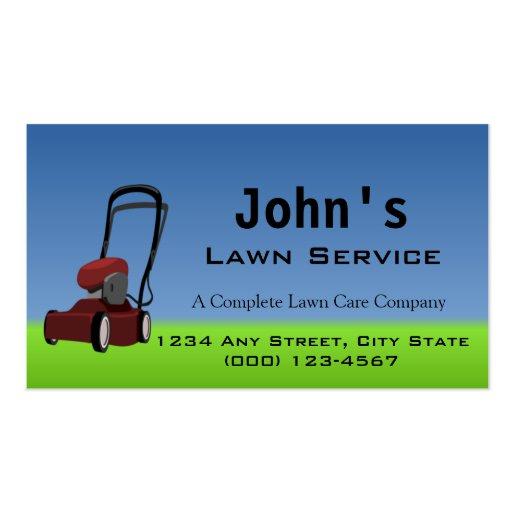 Mower plete Lawn Service Business Card