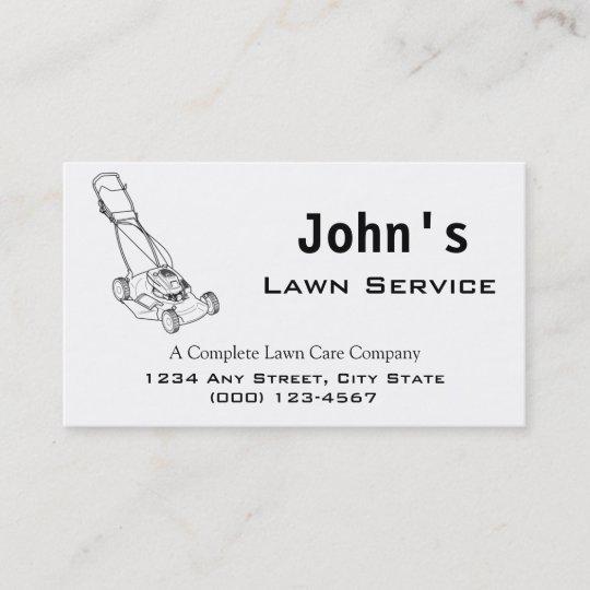 Mower Complete Lawn Service Business Card Zazzle Com