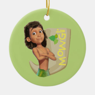 Mowgli 1 Double-Sided ceramic round christmas ornament