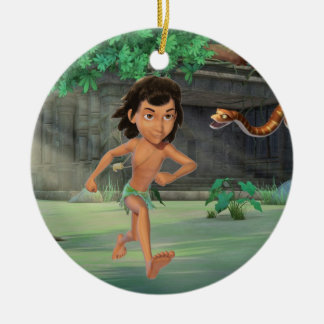 Mowgli 3 Double-Sided ceramic round christmas ornament