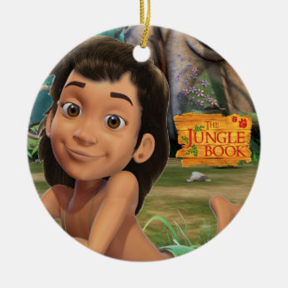 Mowgli 4 Double-Sided ceramic round christmas ornament