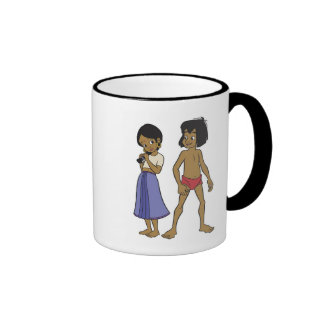 Mowgli and Shanti Disney Ringer Coffee Mug