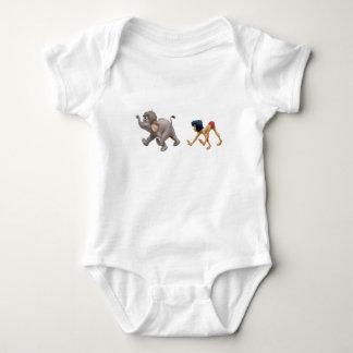 Mowgli del libro de la selva y el marchar del body para bebé