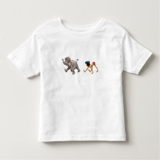 Mowgli del libro de la selva y el marchar del playera de bebé