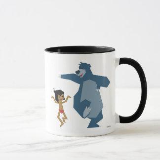 Mowgli y Baloo Disney del libro de la selva Taza