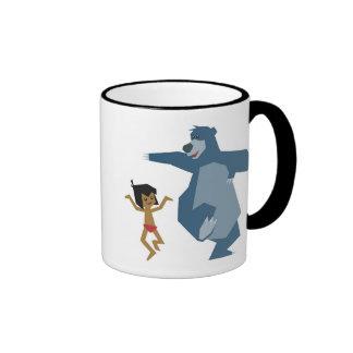 Mowgli y Baloo Disney del libro de la selva Taza A Dos Colores