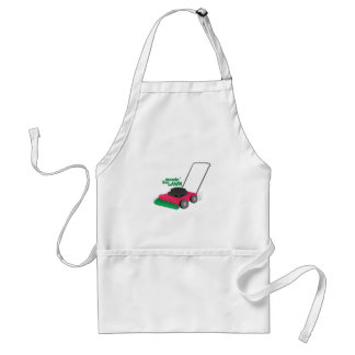 Mowin The Lawn Adult Apron